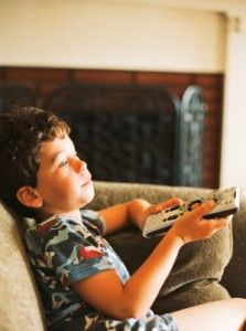 Boy with TV Remote no 3