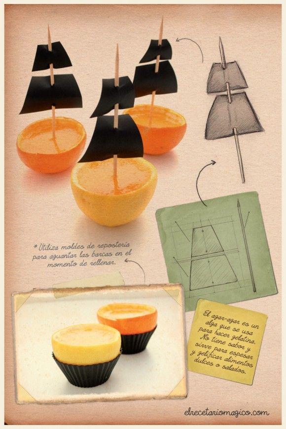 barquitas naranja