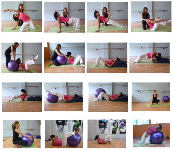 ejercicios con al pelota pilates