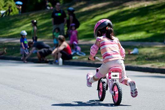 montar en bici verano