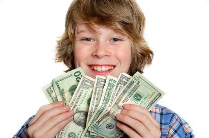 niños materialistas billetes