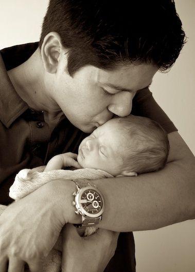 newborn father
