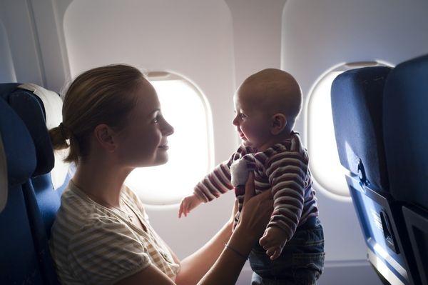 vuelos largos con bebés  a bordo