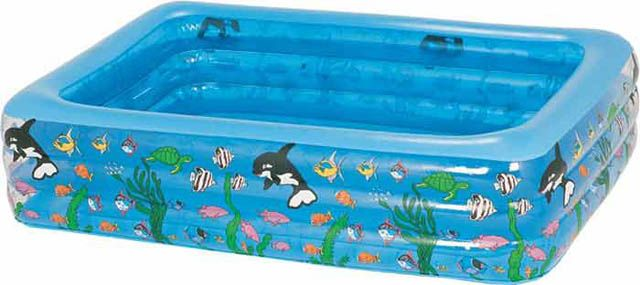 Este verano ponga una piscinita a su beb blog sobre for Piscina hinchable rectangular