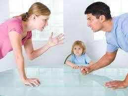 los padres y las discusiones delante de los niños