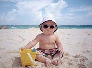 nuestro hijo en la playa