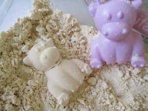 materiales caseros con harina