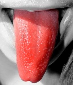 la lengua de fresa