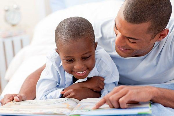 lectura con hijo