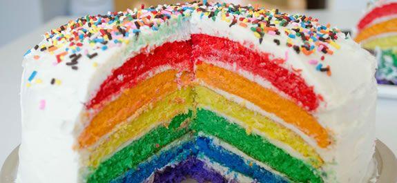pasteles arco iris