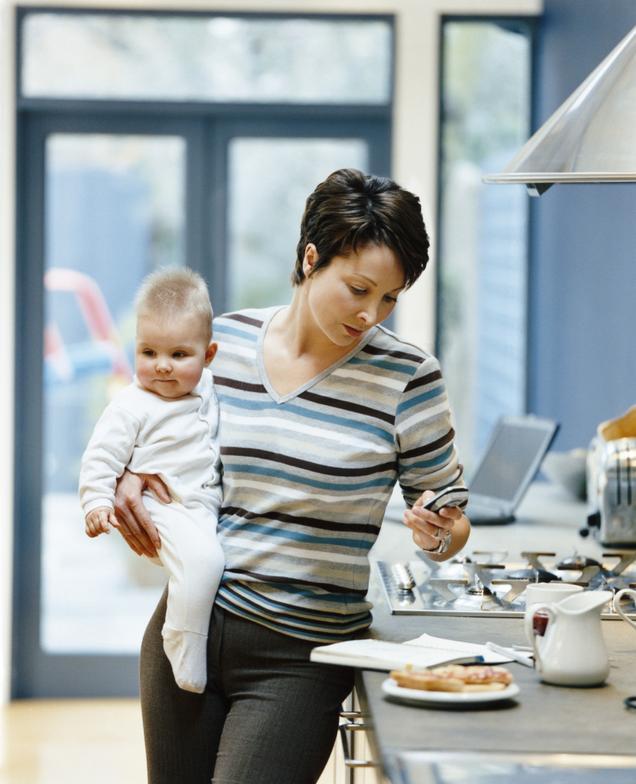 Trabajadoras con bebé