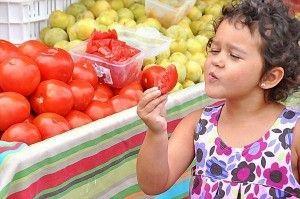 Ir al mercado con niños