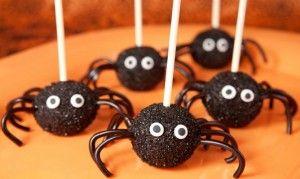 Receta Halloween cake pops arañas