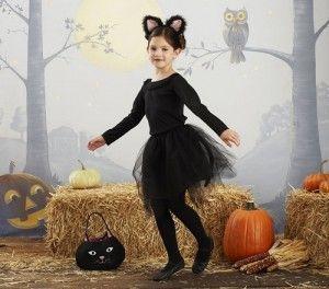 Disfraz infantil Halloween gato negro
