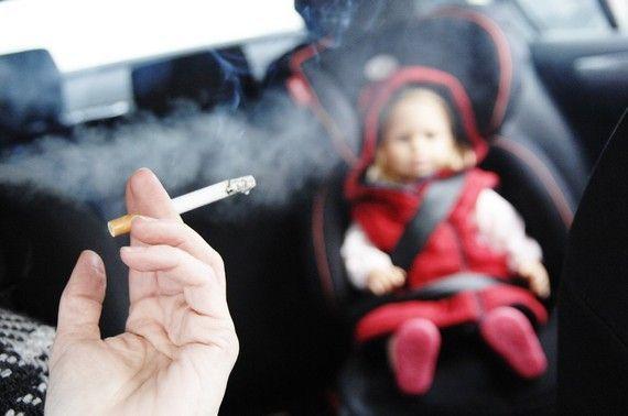 no fumar con bebes