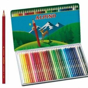 Caja 36 pinturas colores Alpino